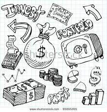 stock vector an image of a financial symbol doodle set 95895265 financial advisor website templates,advisor free download card designs on free responsive church website templates