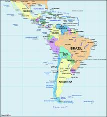 Map of latin american