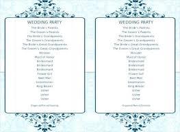 8 Word Wedding Program Templates Free Download Free Premium