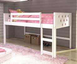 twin size circles low loft bed in white finish atw  donco
