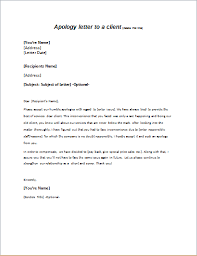 Explanation Letter For Mistake At Work Best General Apology Letter