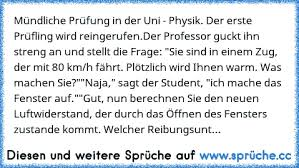 Mündliche Prüfung In Der Uni Physik Der Erste Prüfling Wird