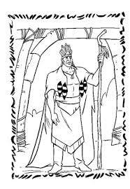 Chief Powhatan Coloring Page Pocahontas Coloring Pages Free