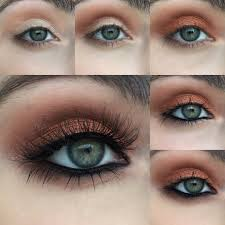 warm copper photo tutorial metallic glittery makeup looks with regard to