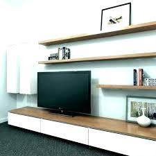 floating glass shelf tv stand white medium size of black shelv