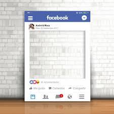 photocall marco para boda con diseño facebook