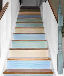 Painting Wooden Stairs Wooden Stairs With Painted Stripes Updating Interior  Design In Ideas