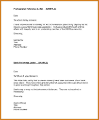 business reference letter professional reference letter for bank account opening