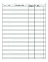 Free Printable Check Register Sheets Book Checkbook Excel