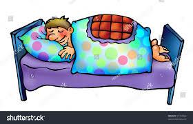 Sleeping Man Boy His Bed Cartoon Stock Illustration 37794469