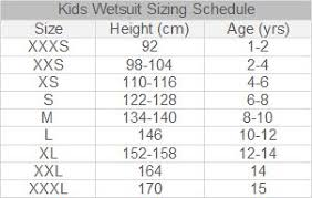 Inquisitive Sub Gear Wetsuit Size Chart 2019