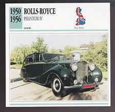 rolls royce phantom 1950. 19501956 rollsroyce phantom iv 4 car photo card 1951 1952 rolls royce 1950