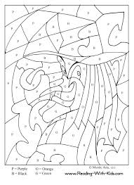 Small Picture Halloween Coloring By Numbers Printables Coloring Pages