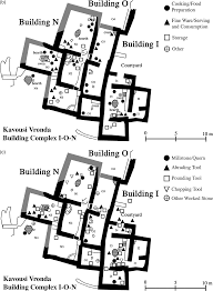 Figure 24 7 b buildings i o n pottery distribution c buildings i o n worked stone distribution courtesy of the instap academic press leslie day
