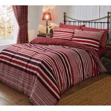 flannel stripe red duvet cover reversible bedding brushed cotton king size 264734 p5552 15282 image jpg