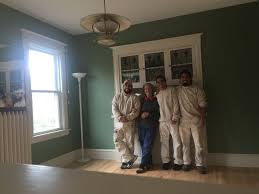 up until the 1960s before interior painting was completed on most american homes plaster was installed on the inner walls later drywall became the