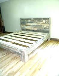 reclaimed wood bed frames
