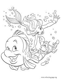 Flounder And Sebastian Coloring Pages Inspire Lovely Pertaining To