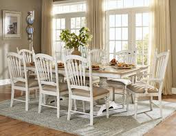 Pedestal Dining Table Set Dining Room - Distressed dining room table and chairs