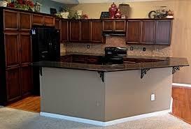 coffee brown granite transitional kitchen