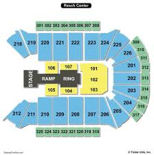 Resch Center Seating Chart With Seat Numbers Time Warner Cable Arena Seating Chart