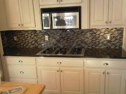 Awesome Design Of The Kitchen Areas With Grey Glass Tile Kitchen Backsplash  Ideas With White Cabinets