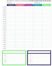 Sample Student Agenda Custom Student Assignment Planner Template Excel Student Planner Template