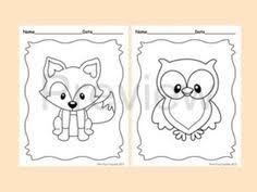 Small Picture Woodland Animal Coloring Pages for Kids Woodland animals Kid