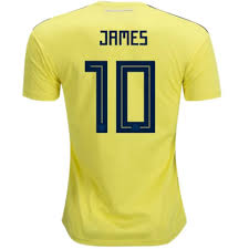 Colombia Jersey Soccer Home Rodr��guez Shop 2018 – Tnt 10 James
