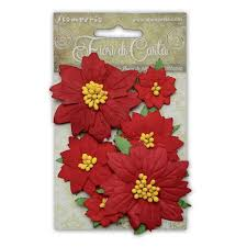 Red Paper Flower Poinsettia Paper Flowers Red Sf144 Craftlines