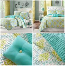 turquoise and lime green bedding nisartmacka