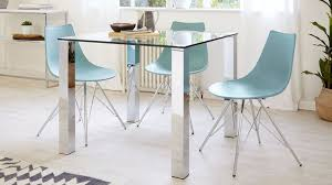 square glass dining table for 4 chrome legs danetti uk intended prepare 5