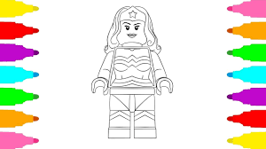 How To Draw Lego Dc Superhero Girls Wonder Woman Coloring Pages