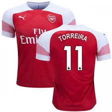 Özil given number 11 shirt by arsenal. 2018 19 Lucas Torreira Arsenal Home 11 Jersey Red White Authentic