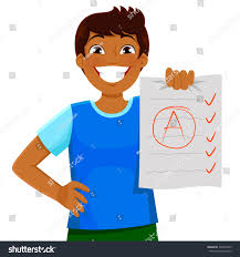 boy essay overboard essay boy overboard essay happy kid presenting  happy kid presenting essay test good stock vector happy kid presenting an essay or test a