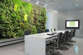 green office interior. View In Gallery Invite The Living Wall Into Your Office Space As Well Green Interior O