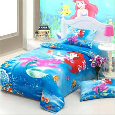 little mermaid bed pink princess the little mermaid bedding sets twin size cotton bed sheets pillowcase