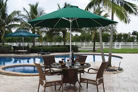 9 ft diameter spring shower umbrella hospitality furniture