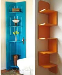 corner shelves love the old door idea corners