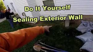 How To Waterproof Your Exterior Foundation Wall DIY For Homeowners - Exterior waterproof sealant