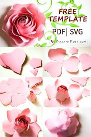 Flowers Templates Paper Rose Template Great Printable Giant Flower Templates