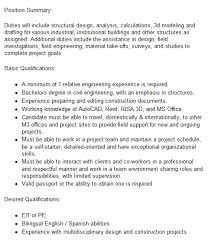 structural engineer job description structural engineer mining job in usa careermine