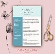 Designer Cover Letter Beauteous Teacher CV Professional Resume Template Cover Letter For Etsy