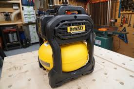 dewalt compressor. like other oil-less compressors, this means the compressor is louder, has less power, and will need to be filled more often. dewalt 3