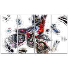 art moto cross sports canvas wall art