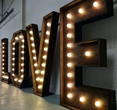giant light up letters our love marquee are made from solid wood and warm led bulbs the biggest of their kind in south wales diy