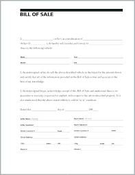 Automobile Bill Of Sale Form Bill Of Sale Auto Template Awesome Automobile Free Simple
