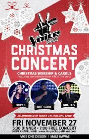 Christmas Concert Poster Christmas Poster Design For The Voice Christmas Concert On Maui