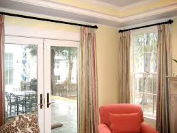 image of window treatments for sliding doors with side windows