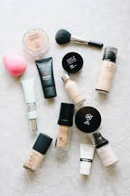 spf make up and brushes